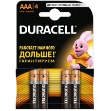 /Елемент живлення (батарейка) DURACELL LR3 (AAA), 4шт/упак