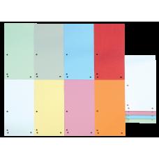 Індекс-розділювач 10, 5х23см (100шт.), картон, асорті