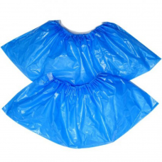 Бахилы полиэтиленовые голубые, 50 пар / уп, BuroClean