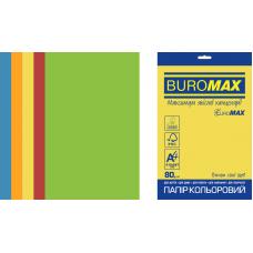 /Набір кольорового паперу INTENSIVE, EUROMAX, А4, 80г/м2 (5х50/250арк.)