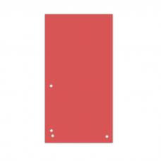 Індекс-розділювач 10, 5х23см (100шт.), картон, червоний