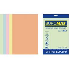 /Набір кольорового паперу PASTEL, EUROMAX, А4, 80г/м2 (5х50/250арк.)