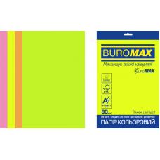 /Набір кольорового паперу NEON, EUROMAX, А4, 80г/м2 (4х50/200арк.)
