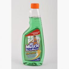 /Засіб чист. д/скла професіонал Містер Мускул змінна пляшка 500мл зелений