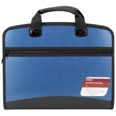 Портфель А4 на 4 відділення, синій металік