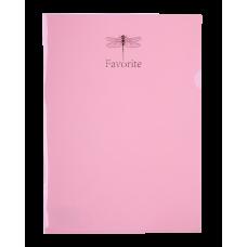 Папка-кутик А4, PASTEL рожевий