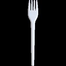 /Веделка одноразова, 17 см, біла, 2,1 г, 100шт/уп