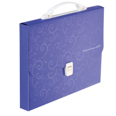 Портфель пластиковий A4/35мм, BAROCCO, фіолетовий