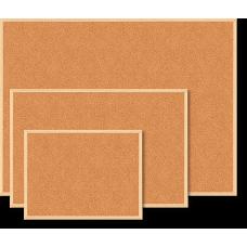 Дошка коркова JOBMAX, 45x60см, дер. рамка