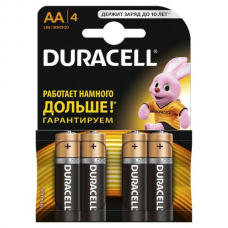 /Елемент живлення (батарейка) DURACELL LR6 (AA) 4шт/упак