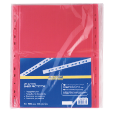 /Файл для документів А4, 40мкм, PROFESSIONAL, 100шт, червоний