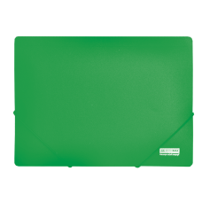 /Папка пласт. А4 на гумках, JOBMAX, зелений