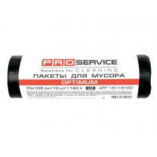 /Пакеты для мусора, п/е, 70*105, 20 мкм, черные, LD, 120л/10шт OPTIMUM (25шт/ящ) PRO SERVICE