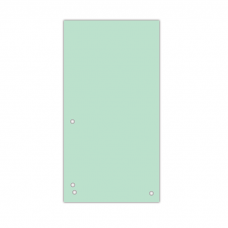Індекс-розділювач 10, 5х23см (100шт.), картон, зелений