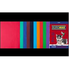 Набір кольорового паперу А4, 80г/м2, DARK+INTENSIV, 10цв., 20л.